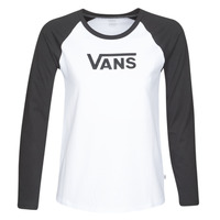 material Women Long sleeved shirts Vans FLYING V LS RAGLAN White / Black