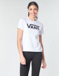 material Women Long sleeved shirts Vans FLYING V CREW TEE White