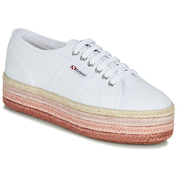 Shoes Women Low top trainers Superga 2790-COTCOLOROPEW White / Pink