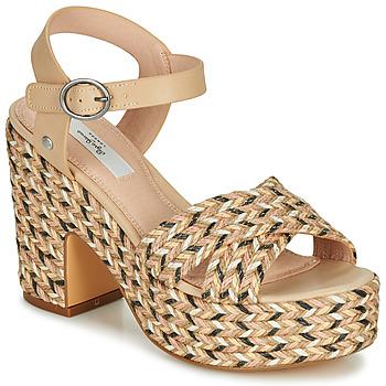 Shoes Women Sandals Pepe jeans BLEAN Beige