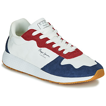 Shoes Women Low top trainers Pepe jeans KOKO ESSE White / Blue / Red