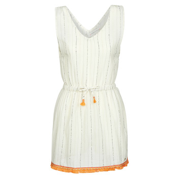 material Women Short Dresses Banana Moon MARZUL MANDALO White / Orange
