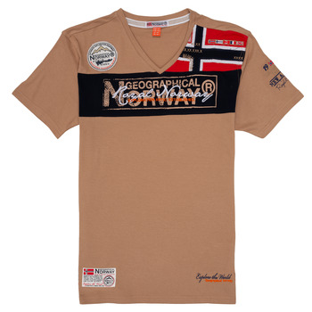 material Boy short-sleeved t-shirts Geographical Norway JIDNEY Beige