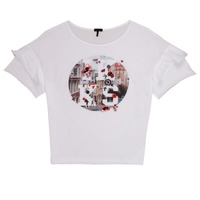 material Girl short-sleeved t-shirts Ikks NINOUCH White