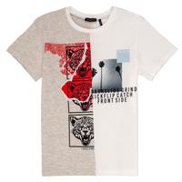 material Boy short-sleeved t-shirts Ikks RULIO Beige / White