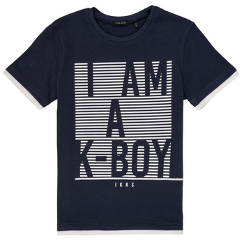 material Boy short-sleeved t-shirts Ikks AURELIE Marine