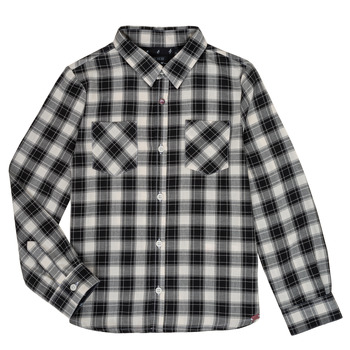 material Boy long-sleeved shirts Ikks LEO Black / White