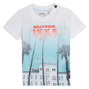 material Boy short-sleeved t-shirts Ikks JOSIANE White