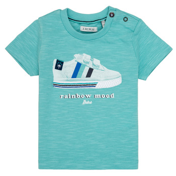material Boy short-sleeved t-shirts Ikks MARIA Turquoise