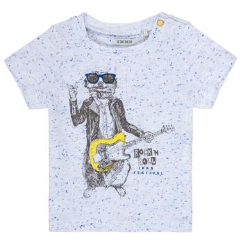material Boy short-sleeved t-shirts Ikks MARIO White