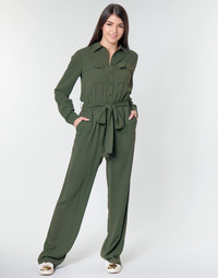 material Women Jumpsuits / Dungarees MICHAEL Michael Kors ROLL SLV SAFARI JMPST Kaki