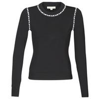 material Women jumpers MICHAEL Michael Kors MK TRIM LS CREW Black