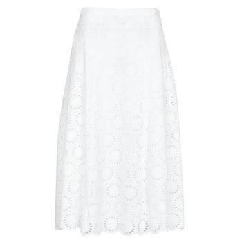 material Women Skirts MICHAEL Michael Kors FLORAL EYLT LNG SKIRT White