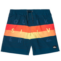 material Boy Trunks / Swim shorts Quiksilver WORD BLOCK VOLLEY YOUTH Blue
