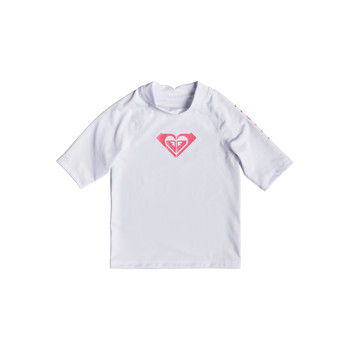 Underwear Girl Bodysuits Roxy WHOLE HEARTED LS Bright / White