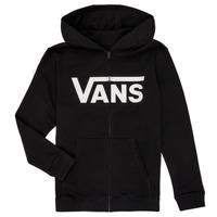 material Children sweaters Vans BY VANS CLASSIC ZIP HOODIE Black