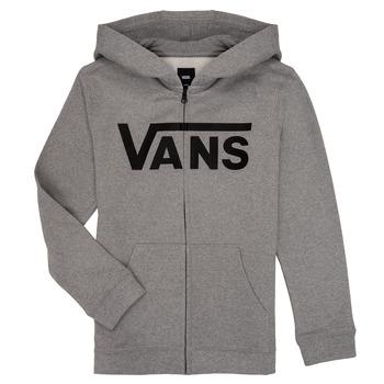 material Children sweaters Vans BY VANS CLASSIC ZIP HOODIE Grey