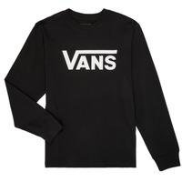 material Children Long sleeved shirts Vans BY VANS CLASSIC LS Black