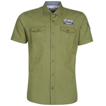 material Men short-sleeved shirts Petrol Industries SHIRT SS Kaki