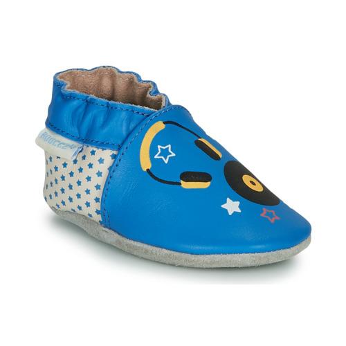 Shoes Children Slippers Robeez MUSIC SOUND Blue / Beige