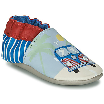 Shoes Children Slippers Robeez ROAD TRIP Blue / Beige / Red