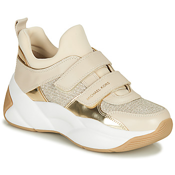 Shoes Women Low top trainers MICHAEL Michael Kors KEELEY Beige / Gold