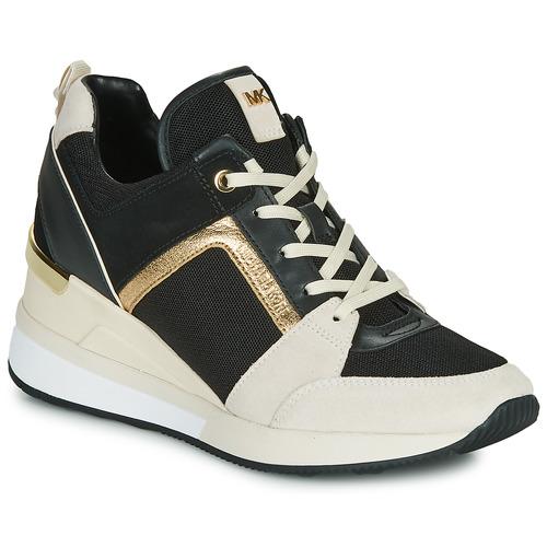 Shoes Women Low top trainers MICHAEL Michael Kors GEORGIE Black / Beige / Gold