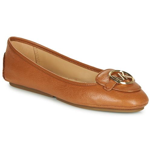Shoes Women Ballerinas MICHAEL Michael Kors LILLIE Cognac