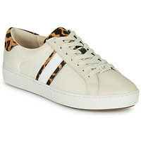 Shoes Women Low top trainers MICHAEL Michael Kors IRVING STRIPE LACE UP Ecru / Leopard