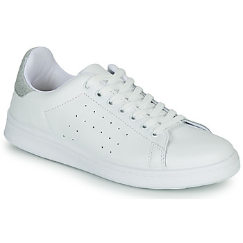 Shoes Women Low top trainers Yurban SATURNA White / Silver