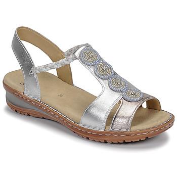 Shoes Women Sandals Ara HAWAII White / Silver