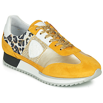 Shoes Women Low top trainers Philippe Morvan  Yellow / Gold