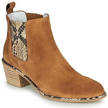 Shoes Women Boots Regard NINA V6 PESCA P CUOIO Brown