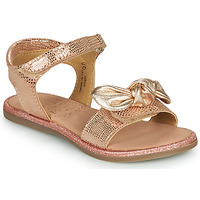 Shoes Girl Sandals Mod'8 PARIVA Pink / Gold