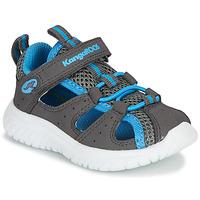 Shoes Children Sandals Kangaroos KI-Rock Lite EV Grey / Blue