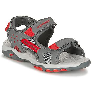 Shoes Boy Sandals Kangaroos K-CELTIC Grey / Orange