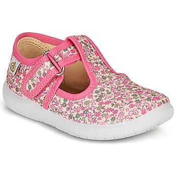 Shoes Girl Ballerinas Citrouille et Compagnie MATITO Pink / Multicolour