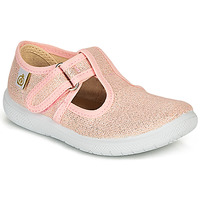 Shoes Girl Ballerinas Citrouille et Compagnie MATITO Pink / Metallic