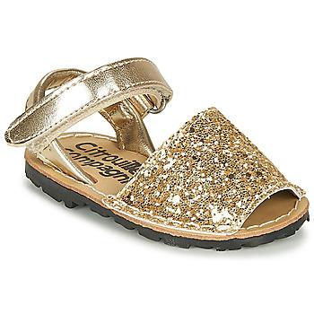Shoes Girl Sandals Citrouille et Compagnie SQUOUBEL Gold