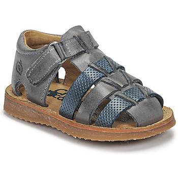 Shoes Boy Sandals Citrouille et Compagnie MISTIGRI Grey / Blue
