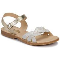 Shoes Girl Sandals Citrouille et Compagnie MADELLE Silver