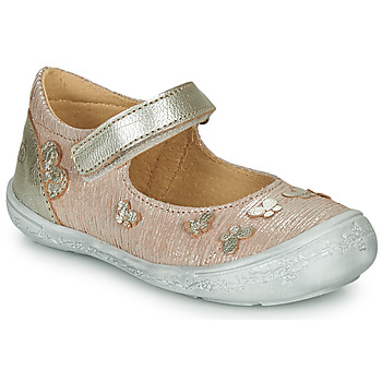 Shoes Girl Ballerinas Citrouille et Compagnie JALIPINE Beige / Glitter