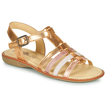 Shoes Girl Sandals Citrouille et Compagnie GROUFLA Gold / Colours                                     / Pink