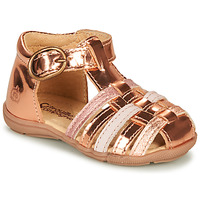 Shoes Girl Sandals Citrouille et Compagnie RINE Pink / Metallic
