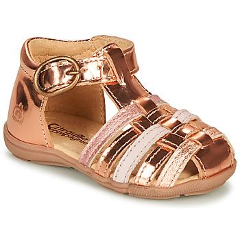 Shoes Girl Sandals Citrouille et Compagnie RINE Pink / Metallic