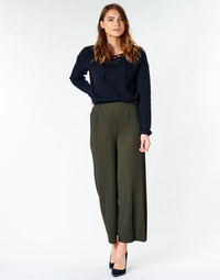 material Women Wide leg / Harem trousers Moony Mood  Kaki