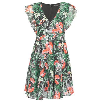 material Women Short Dresses Guess EULALIA DRESS Black / Green