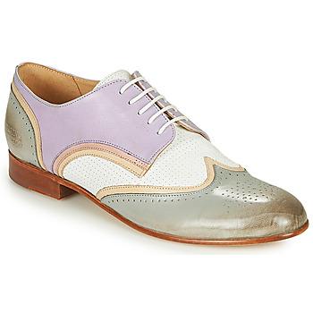 Shoes Women Derby shoes Melvin & Hamilton SALLY 15 Blue / White / Beige