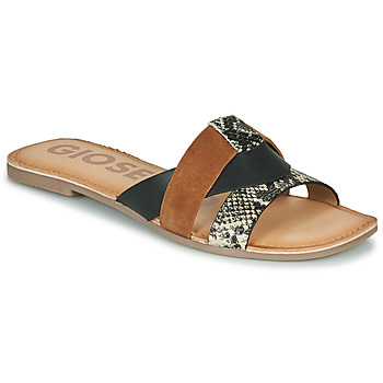Shoes Women Mules Gioseppo LANTANA Black / Cognac