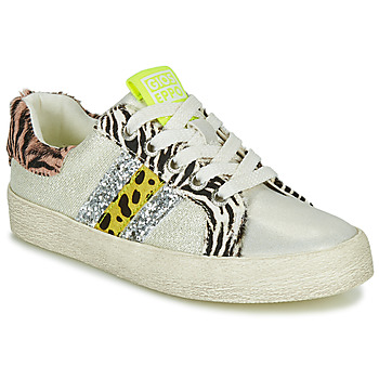 Shoes Girl Low top trainers Gioseppo TIRRENIA White / Yellow / Silver